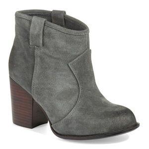 Splendid Lakota Gray Suede Leather Pull-On Booties